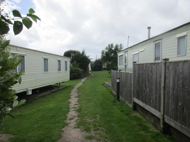 Footpath between the caravans