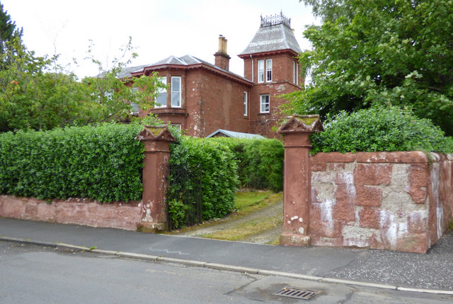 Red sandstone house on The Crescent