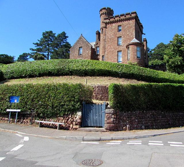Grade II listed Elgin Tower, Minehead