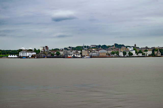 Gravesend : view from Tilbury Fort