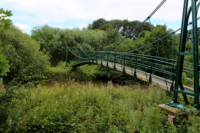 Suspension Bridge over the River Derwent