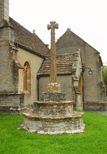 Cross outside Church of St Peter and St Paul, Charlton Adam