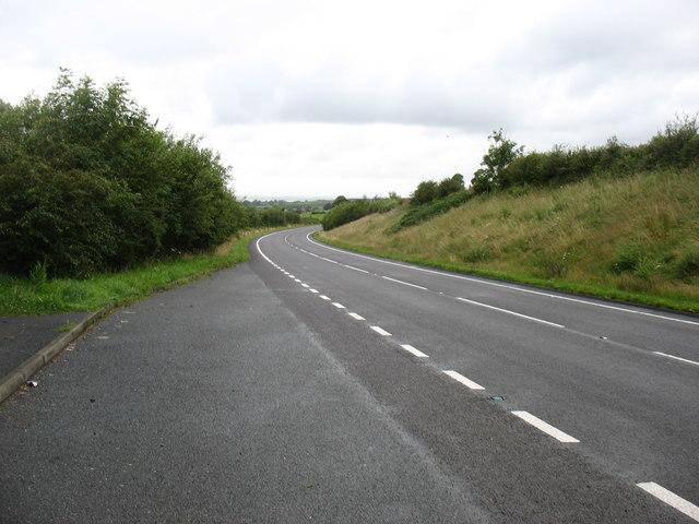 The A487 heading north towards Caernarfon