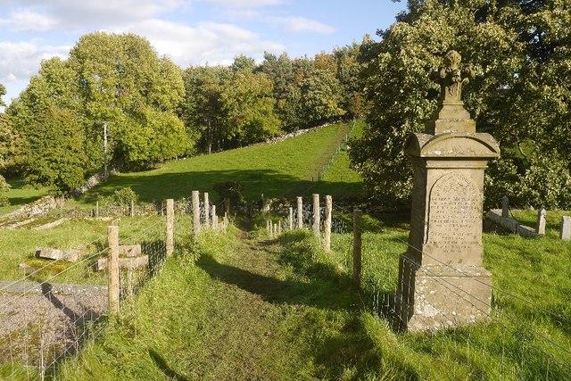 Path, Aysgarth church yard