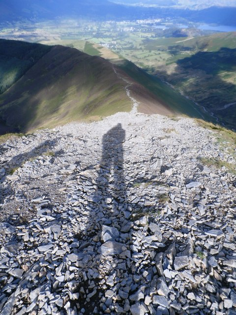 Me and My Shadow descending Grisedale Pike