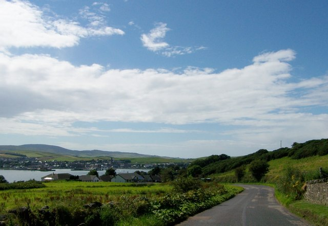 Approaching Campbeltown on the B842