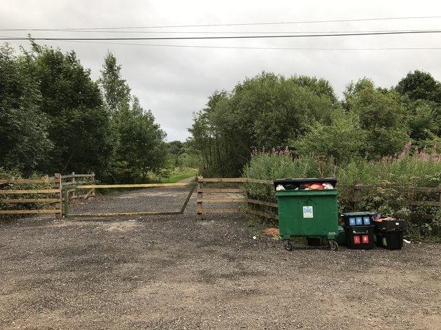Parking area and bins on Red Hall Lane