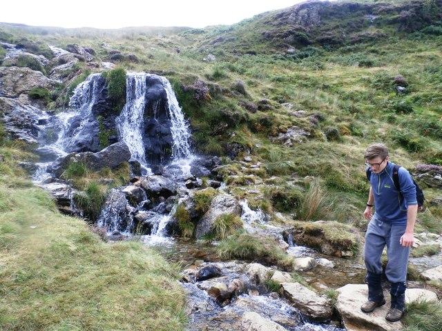 Waterfall at Yewthwaite Comb