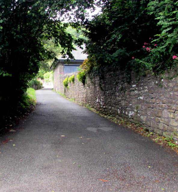 Church Lane towards the Blorenge, Llanfoist