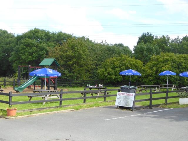 """Pub garden behind the """"Baydale Beck"""""""