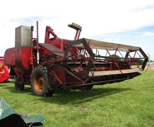 Vintage Massey-Harris combine harvester