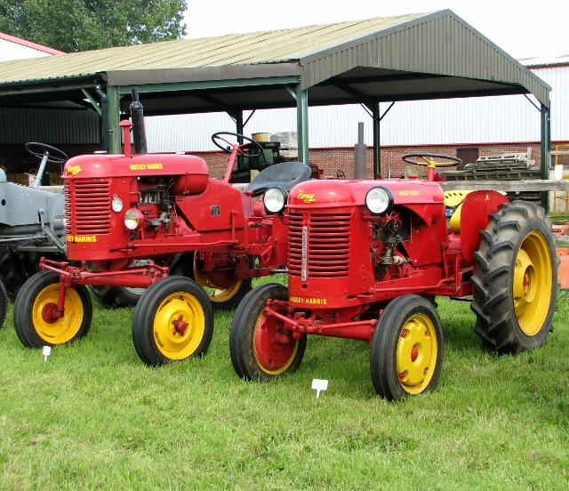Vintage Massey Ferguson and Massey-Harris Pony tractors