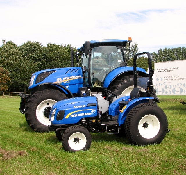 New Holland tractor and quad bike