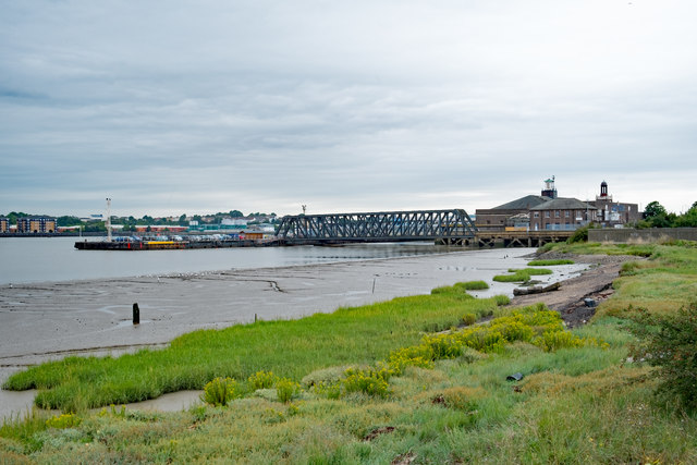 View of the Thames at Tilbury at low tide