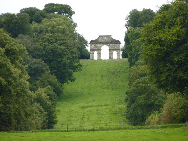 The Triumphal Arch at Castle Hill House, Filleigh
