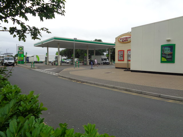 Wild Bean Cafe and fuel at Michaelwood, M5 Northbound