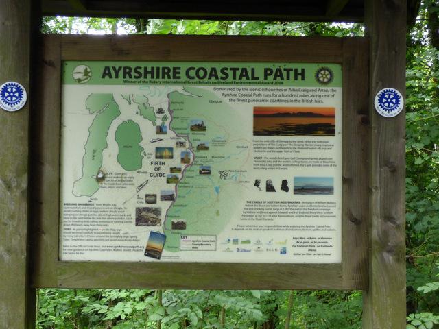 Ayrshire Coastal Path noticeboard