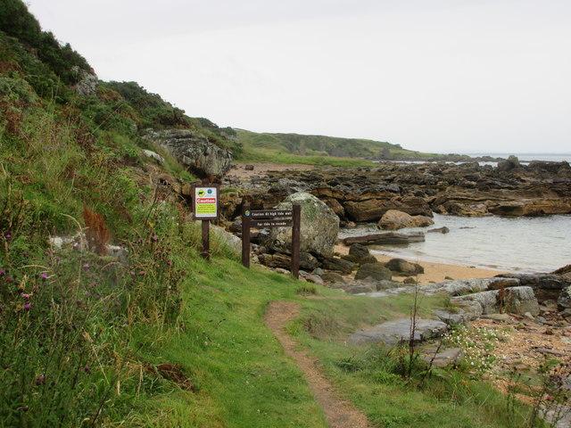 Coastal Path warning sign