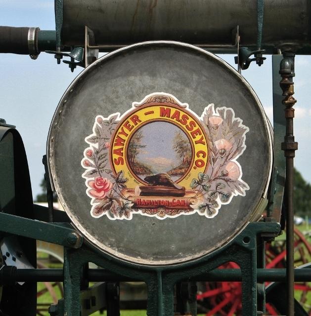 Sawyer-Massey tractor - detail