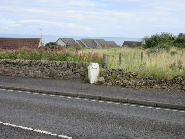 Milestone on the outskirts of St.Andrews