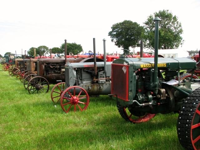 Massey-Harris and Wallis tractors on display