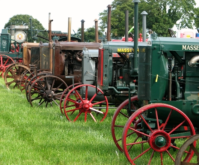 Massey-Harris Wallis tractors on display