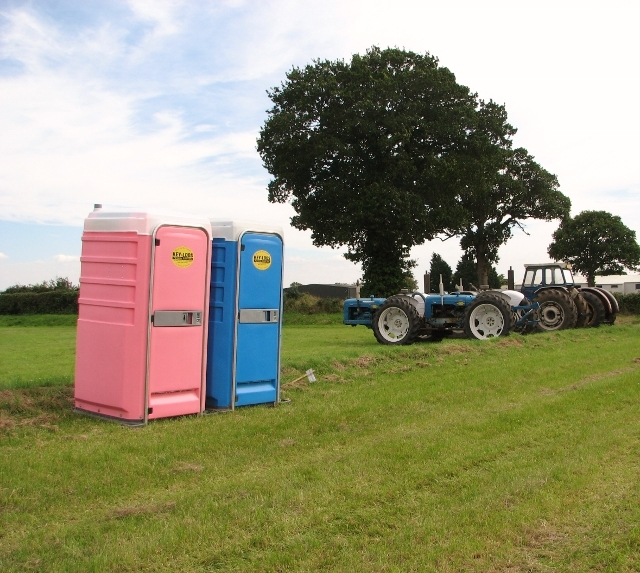 His & Her portable toilets