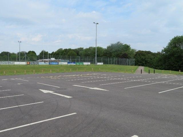 Athletics club car park