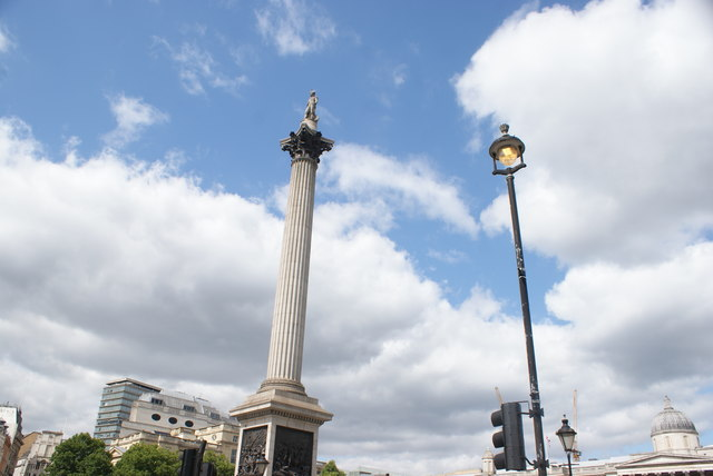 View of Nelson's Column from Trafalgar Square #2