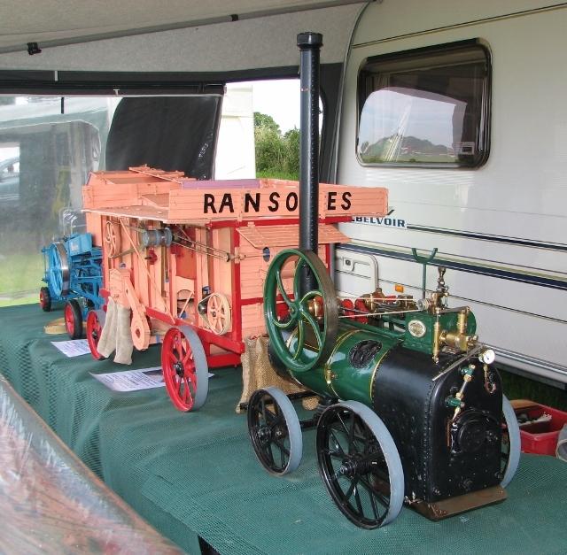 Model of a Ransomes threshing machine