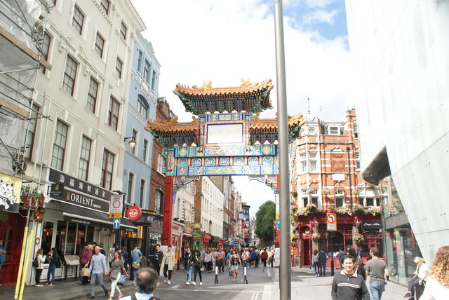 View of the entrance pagoda of Chinatown from Whitcomb Street #2