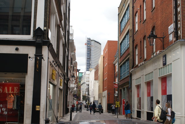 View of Centre Point from Long Acre