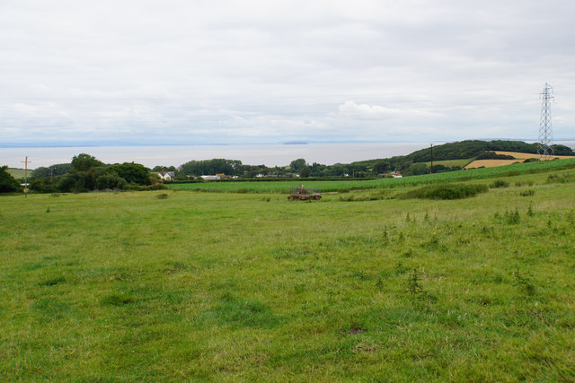 Fields above East Quantoxhead