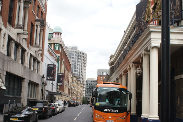 View up Catherine Street