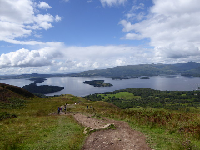 A busy day on Conic Hill