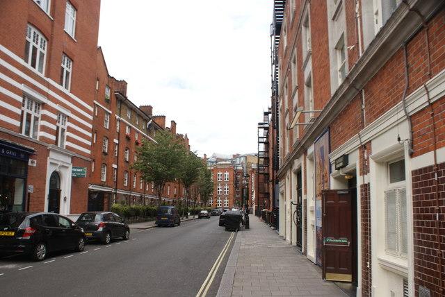 View up Tavistock Street from Catherine Street