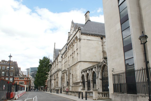 View of the Royal Courts of Justice from Carey Street