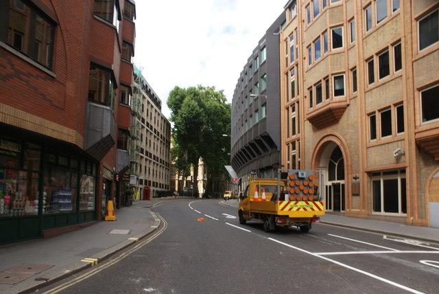 View up Fetter Lane from Fleet Street #2