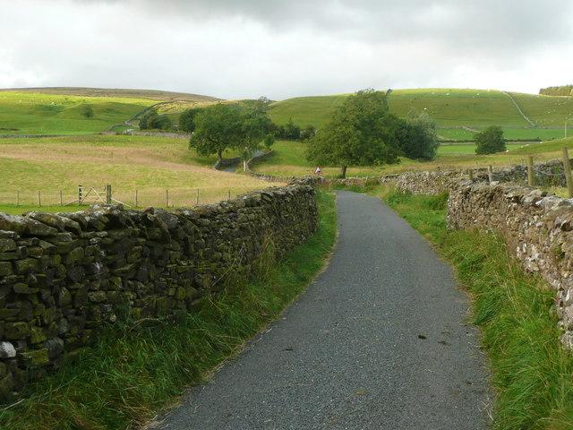 Henbusk Lane leaving Newby village