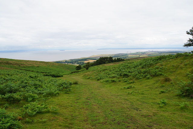 Path descending towards Smith's Combe