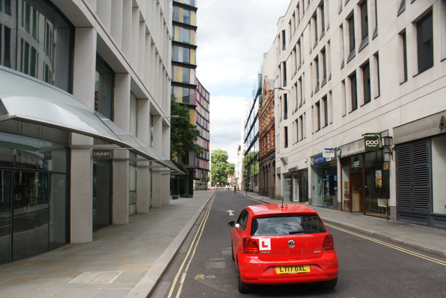 View up Old Bailey from Ludgate Hill #2