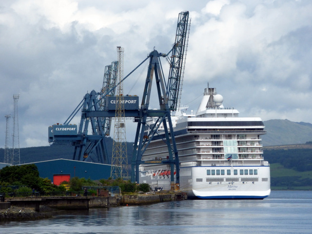 Cruise Ship Marina At Greenock Thomas Nugent Geograph Britain - Cruise ships at greenock