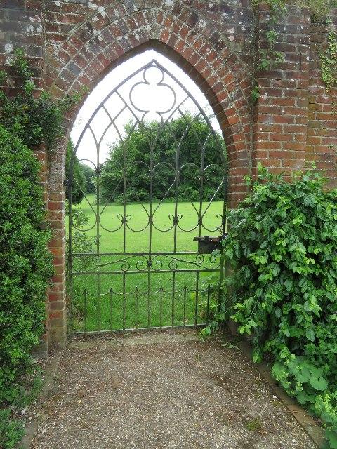 Side gate - Down Grange walled garden