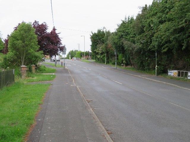 Pack Lane approaching 'Five Ways'