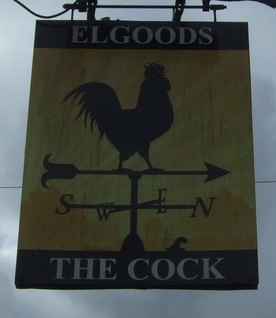 Sign for the Cock Inn, March