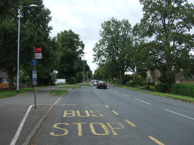 Bus top on Wimblington Road (B1101)