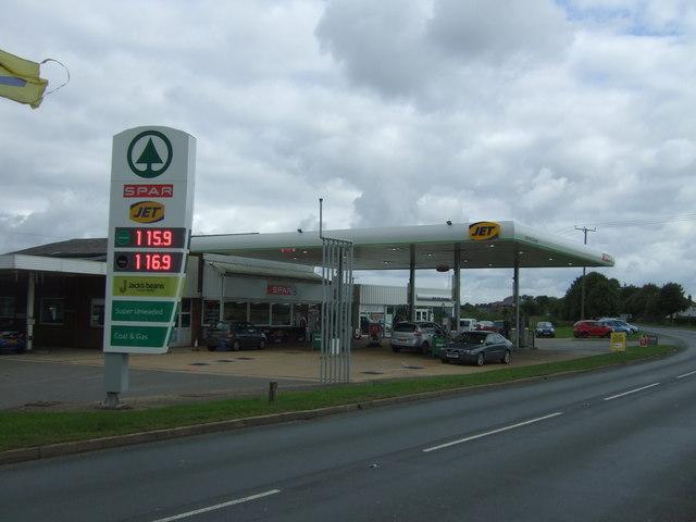 Service station on Wimblington Road (B1101)