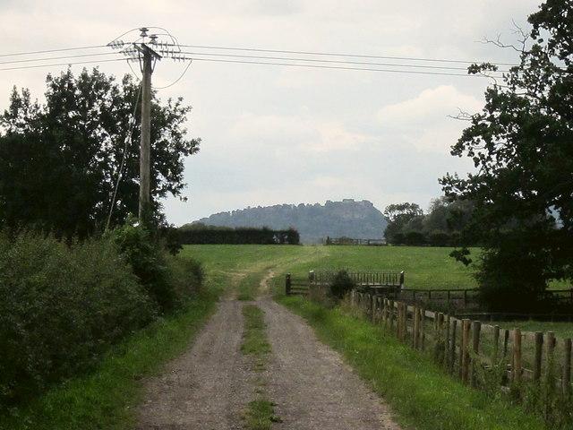 View towards Beeston Castle