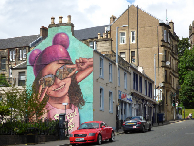 "The ""Buddie"" mural on Storie Street"