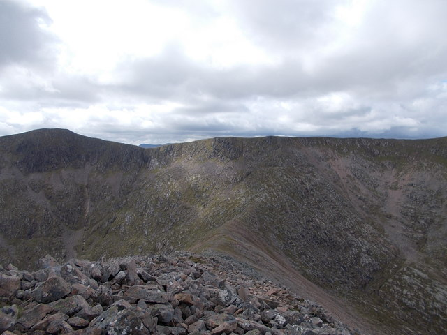 Col between Meall a' Bhuiridh and Creise